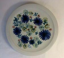 Vintage RYE Studio Pottery Flowers / Floral Design Dish / Plate British