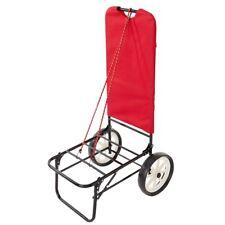 Carrello spiaggia mare trolley porta spesa ombrellone campeggio colore rosso