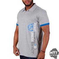 Ecko Unltd. Mens Polo Shirt Grey Collared Short Sleeve Printed Top Size S - XL