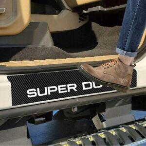 Ford F250 F350 Super Duty Carbon Fiber White Door Sill Cover Scuff Pad Set 4