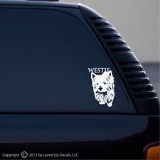 Westie West Highland White Terrier window vinyl decal