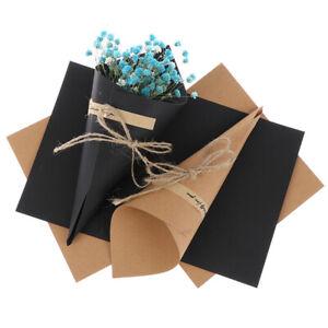 30pcs Wedding Kraft paper Flower Petals Candy Natural Confetti Co HoJ Ky