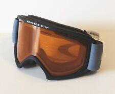 Oakley Goggles 02 XL Black Blue Persimmon NIB Bag Ski Snowboard Snow