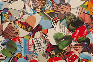 Marvel Comic Heroes Theme Wedding Party Table Top Confetti/Decoration - Hearts