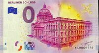BILLET 0  EURO  NBERLINER SCHLOSS 2 ALLEMAGNE  2017  NUMERO 1301