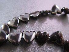 Hematite Top Drilled Heart Beads 35pcs