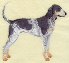 Large Embroidered Zippered Tote - Bluetick Coonhound C9622