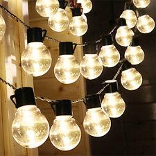 2set LED Solar Power String Lights Ball Shaped Bulbs wedding Decor Outdoor Clear