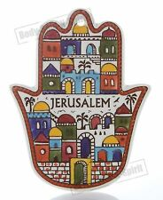 JERUSALEM Wall hanging For Protection Ceramic Hamsa hand soul lucky charm gift