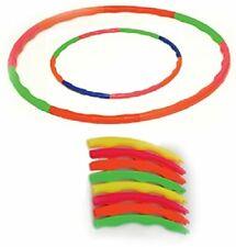 Fitness Equipment Plastic Fordable Hula Hoop Gear Multi Color 80 cm Diameter