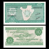 Burundi 10 Francs Banknote, 2007, P-33, 10 Bundles, UNC