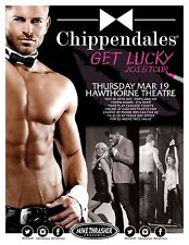 CHIPPENDALES 2015 Gig POSTER Portland Oregon Show Get Lucky Tour