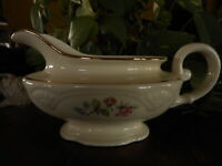 Homer Laughlin Gravy Boat China Formal Grandmas Floral Flowers Pink Blue