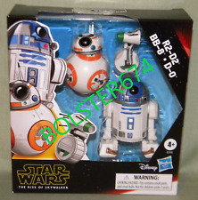 "R2-D2 BB-8 D-0 Star Wars Rise of Skywalker 5"" Scale Figures Galaxy of Adventure"