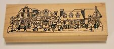 Holiday Village Gift Shop Church Wood Mounted Rubber Stamp Cards Invitations
