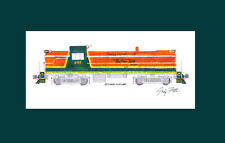 "Battenkill Railroad RS3 #605 11""x17"" Matted Print Andy Fletcher signed"