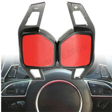 Black Gear Shift Steering Wheel Extension Paddle for Audi A3 A4 A6 A7 A8 Q5 Q7