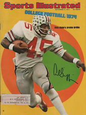 Archie Griffin 1974 & 1975 Heisman Football SIGNED Sports Illustrated 9/9/74 COA