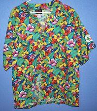 Aloha Hawaiian Island Colorful Tropical Vacation Holiday Tiki Surf Casual Shirts