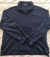 Mens Polo Ralph Lauren Long Sleeve Shirt Blue Size XXL