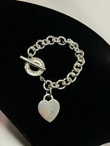 Tiffany & Co. Heart Tag Toggle Bracelet in 925 Sterling Silver