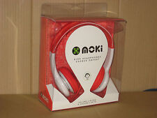 Moki Volume Restricted Kids HEADPHONES Red New In Box Music/MP3