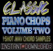 PIANO 1-SHOT WAV SOUNDS SAMPLES CHOPS 2 Hip Hop Jazz Akai Reason Fl Studio Logic