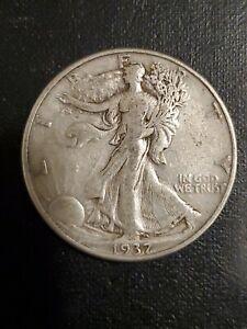 1937 D Walking Liberty Half Dollar - Very Fine Condition - 214SU