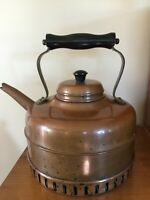 Vintage Simplex Style Tea Coffee Pot Kettle Solid Copper Made In England