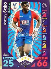 Match Attax 2016/17 Premier League - #087 Bakary Sako - Crystal Palace