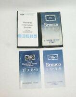 1989 Ford Bronco Factory Original Owners Manual Portfolio #V16