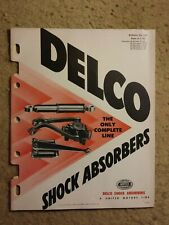 Delco shock absorber manual bulletin 5A-100, United Service Motors - great shape
