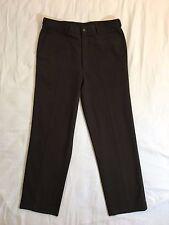 Balmain PARIS Dark Green Flat Front Thick Dress Pants Men's Size 36x32