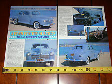 1942 FORD SUPER DELUXE COUPE - ORIGINAL 1995 ARTICLE