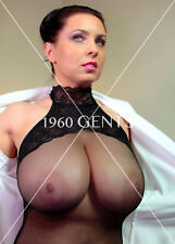 1990s NUDE 8X10 BUSTY BIG BREASTS NIPPLES EWA SONNET PHOTO FROM ORIGINAL NEGES7