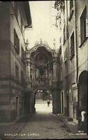 Rapallo Trentino Italien s/w AK ~1920/30 Via Cairoli Straßenpartie Porta Saline