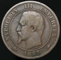 1857 A | France 10 Centimes | Bronze | Coins | KM Coins