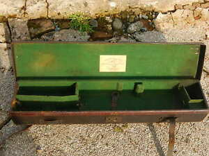 Antique leather gun case by Alexander Thomson and Son