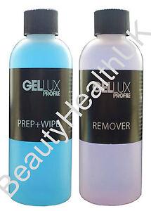 Gellux Twin Pack - Prep+Wipe & Gellux Remover 125ml bottles