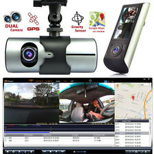HD Dash-Cam Dual Camera Front+InCab Driving Recorder Car DVR GPS Logger G-Sensor
