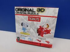 ORIGINAL 3D CRYSTAL PEANUTS PUZZLE ~NEW IN BOX~ FLYING ACE & ASTRONAUT