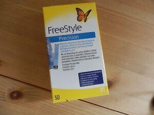 Abbott Free Style Precision Teststreifen 50 Stück MHD 2022-06 NEU OVP