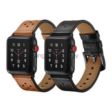 Dots Genuine Leather Watch Band Strap For Apple Watch SE iWatch Series 6 5 4 3 2