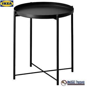 NEW IKEA GLADOM Black Tray table - (17 1/2x20 5/8 )