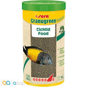 Sera Granugreen Nature Cichlid Fish Food Pellet 1000mL East African Cichlid Food