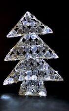 Weihnachtsbaum LED aus Metall mit Kunststoffkristallen 48cm; Weihnachtsdeko