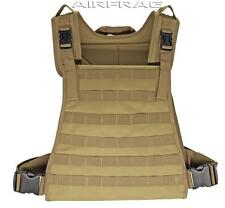 VT071-T Premium Adjustable Tactical Vest w/ Thick Nylon Padding - Tan by Taigear