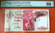 Seychelles 100 Rp Serial 000088 PMG66EPQ