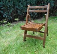 chaise enfant vintage pliante en bois