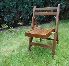 petite chaise enfant vintage pliante en bois